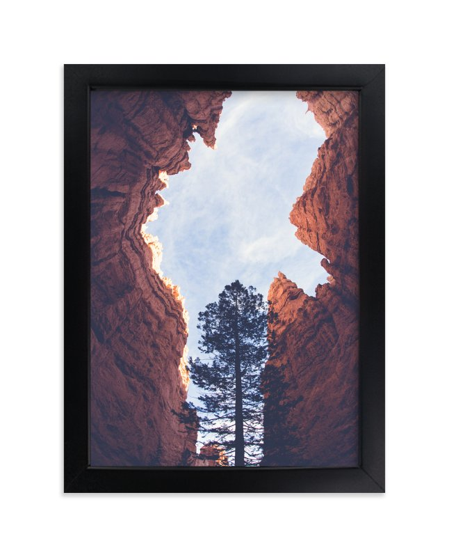 """Red Rock and Sky"" - Art Print by Melissa Walls in beautiful frame options and a variety of sizes."