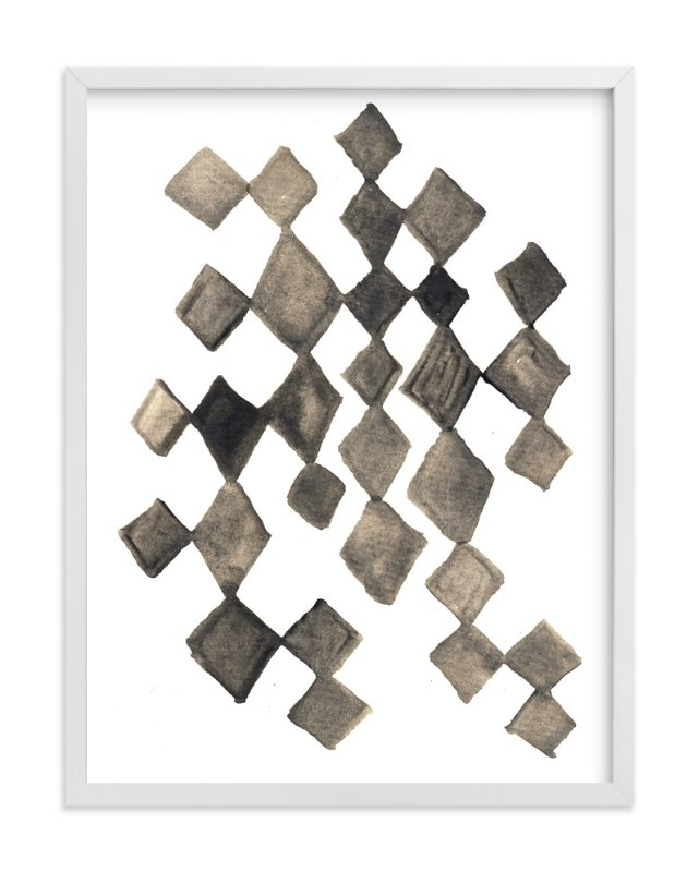 """""""hand painted diamond shapes"""" - Art Print by aticnomar in beautiful frame options and a variety of sizes."""