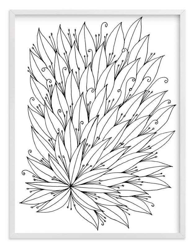"""""""full of leaves"""" - Art Print by aticnomar in beautiful frame options and a variety of sizes."""