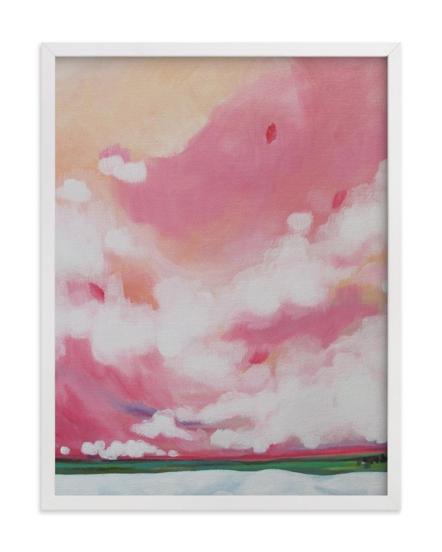 """Pink Skies"" - Art Print by Jennifer Hallock in beautiful frame options and a variety of sizes."