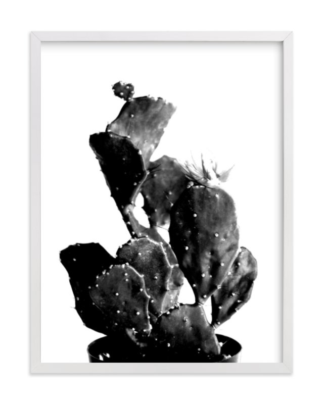 """""""black cactus"""" - Art Print by Baumbirdy in beautiful frame options and a variety of sizes."""