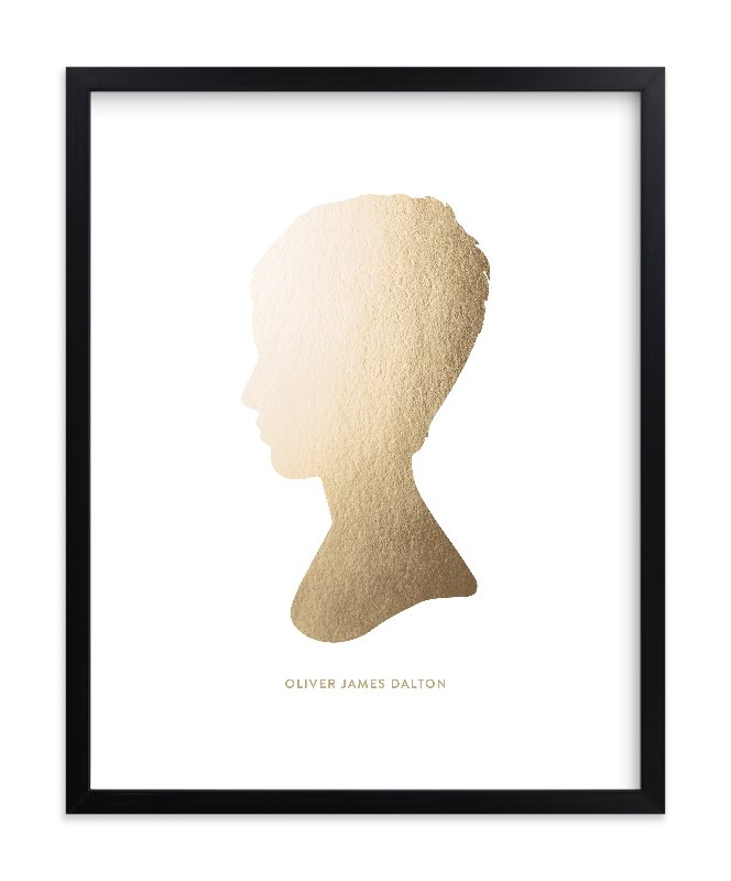 """Silhouette Foil  Art"" - Silhouette Foil Art by Minted in beautiful frame options and a variety of sizes."