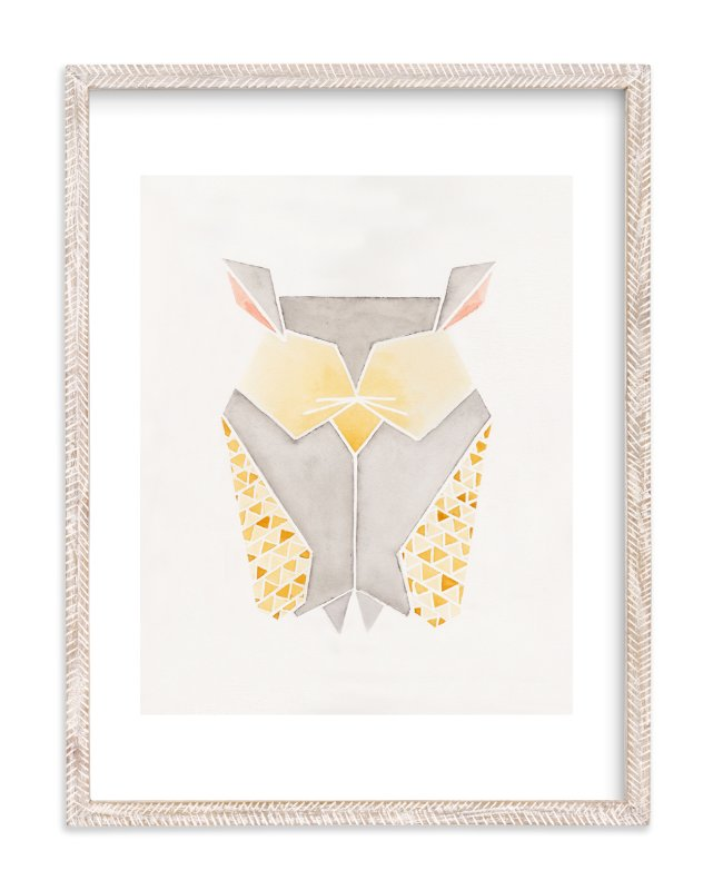 """Feathered Folds No. 3"" - Limited Edition Art Print by Monica Cheng in beautiful frame options and a variety of sizes."