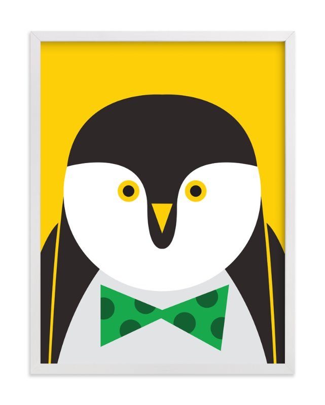 """Mr. Penguin Sir"" - Art Print by Mayel in beautiful frame options and a variety of sizes."