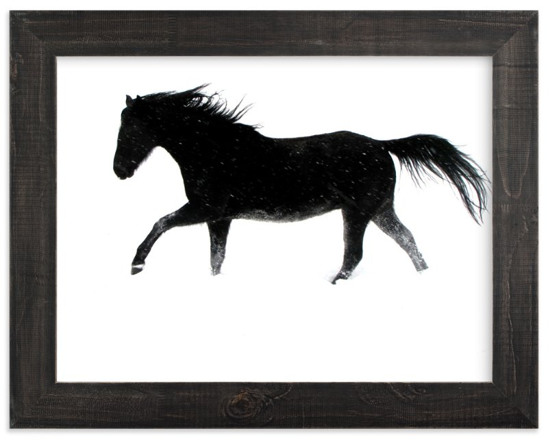 """""""Snow Dancer"""" - Art Print by Leslie Le Coq in beautiful frame options and a variety of sizes."""