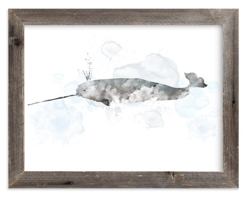 """Whale Series Two"" - Art Print by Shirley Lin Schneider in beautiful frame options and a variety of sizes."