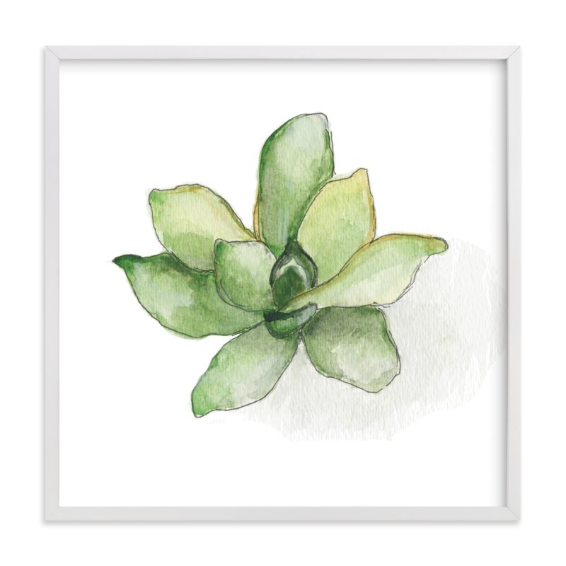"""Aeonium"" - Art Print by Erin Deegan in beautiful frame options and a variety of sizes."