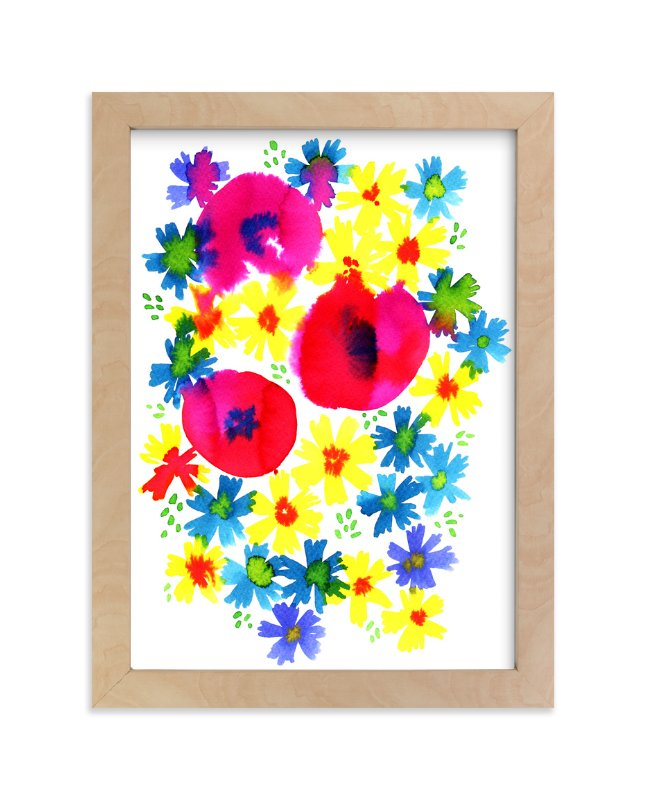"""""""Bright summer florals"""" - Art Print by Alexandra Dzh in beautiful frame options and a variety of sizes."""