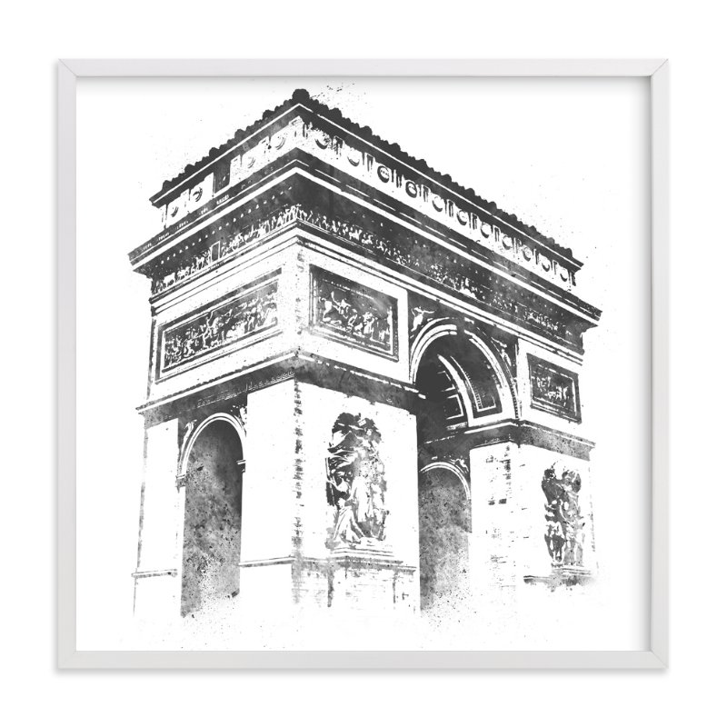 """""""Arc de Triomphe"""" - Art Print by Paul Berthelot in beautiful frame options and a variety of sizes."""