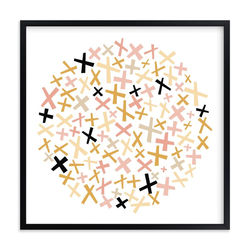 """Criss Cross"" - Art Print by annie clark in beautiful frame options and a variety of sizes."