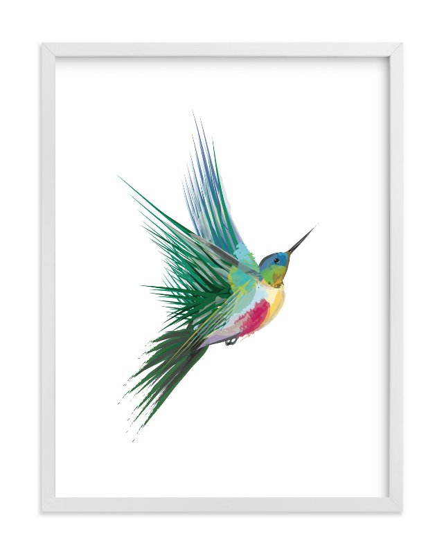 hummingbird limited edition art print by sara shashani in beautiful frame options and