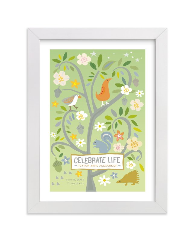 """""""Celebrate Life"""" - Nursery Custom Art Print by Griffinbell Paper Co. in beautiful frame options and a variety of sizes."""