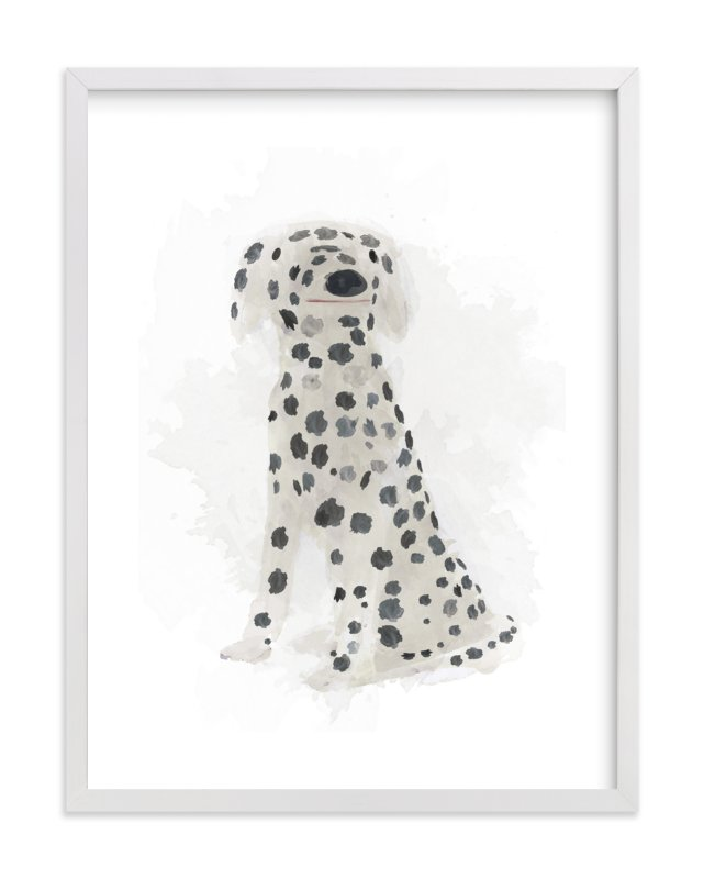 """Spot the Dalmatian"" - Art Print by Melissa Marcarelli in beautiful frame options and a variety of sizes."