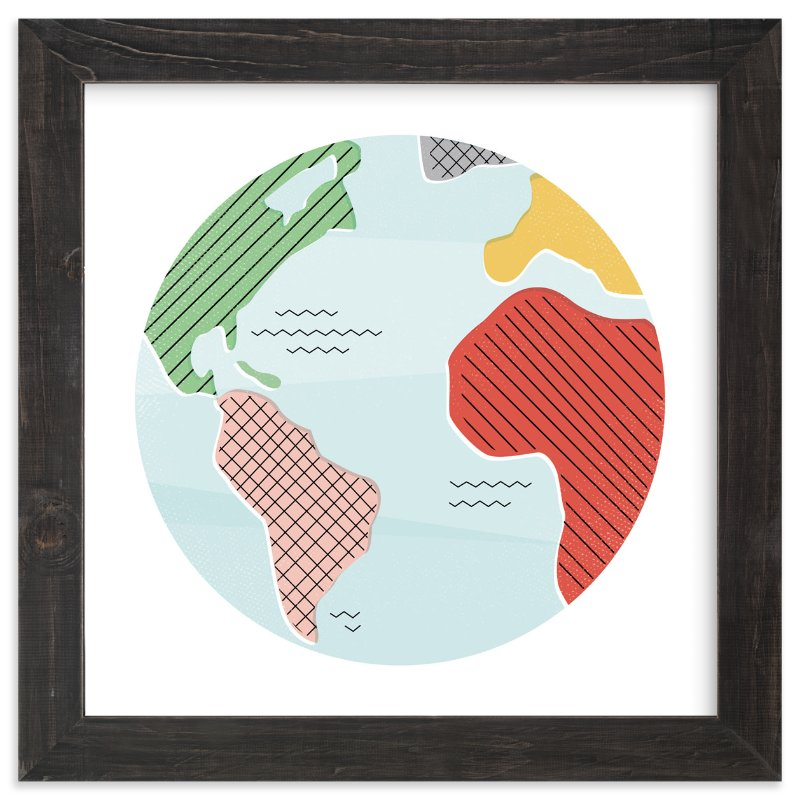"""""""Wonderful World"""" - Limited Edition Art Print by Jessie Steury in beautiful frame options and a variety of sizes."""
