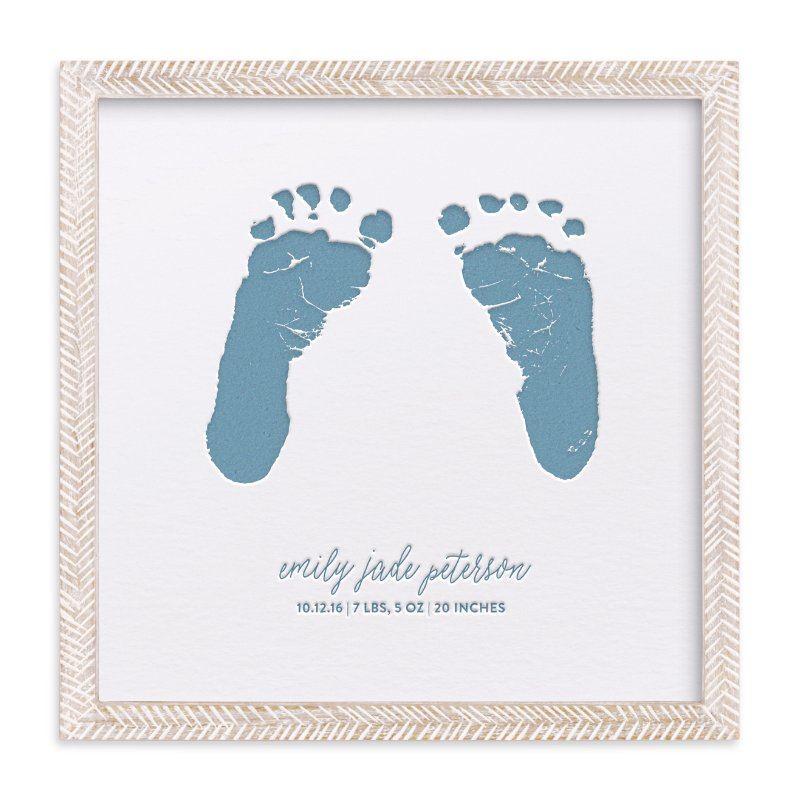 """Custom Footprints Letterpress Art"" - Drawn Letterpress Art by Minted Custom in beautiful frame options and a variety of sizes."