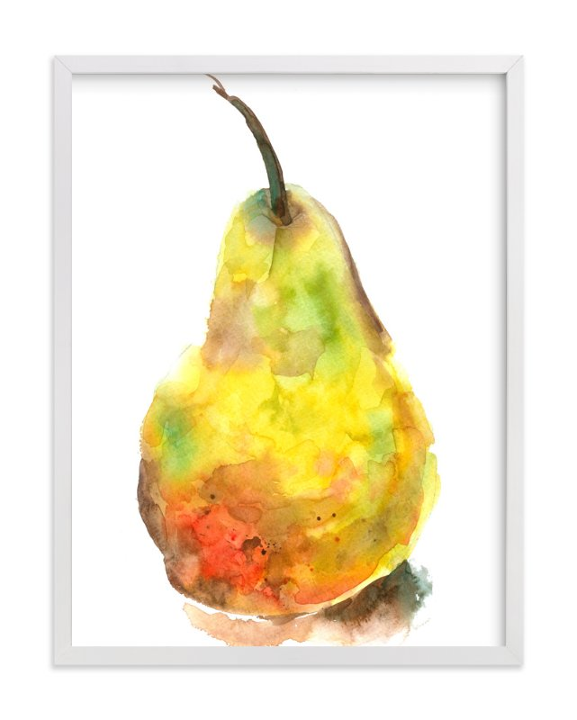 Solo Pear Wall Art Prints by Joseph Weber | Minted