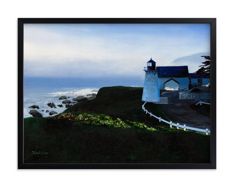 """The Light at Point Montara"" - Art Print by Robert Deem in beautiful frame options and a variety of sizes."