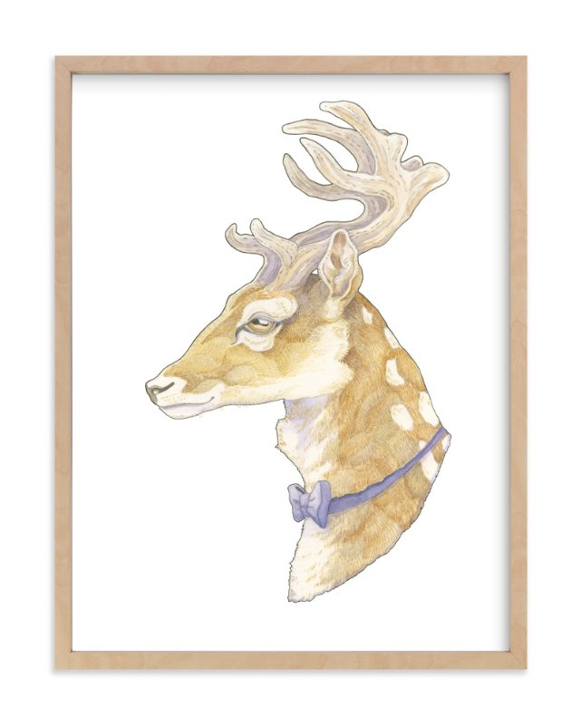 """""""Mr Deer"""" - Art Print by Natalie Groves in beautiful frame options and a variety of sizes."""