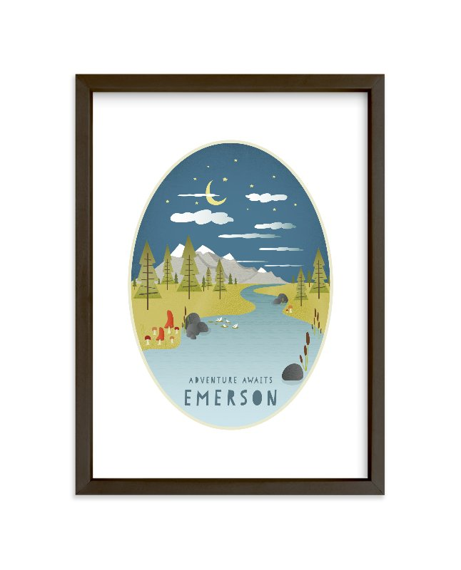 """""""Adventure Awaits"""" - Children's Custom Art Print by Grace Kreinbrink in beautiful frame options and a variety of sizes."""