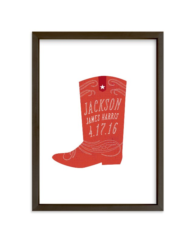 """Giddyup"" - Nursery Custom Art Print by Olivia Raufman in beautiful frame options and a variety of sizes."