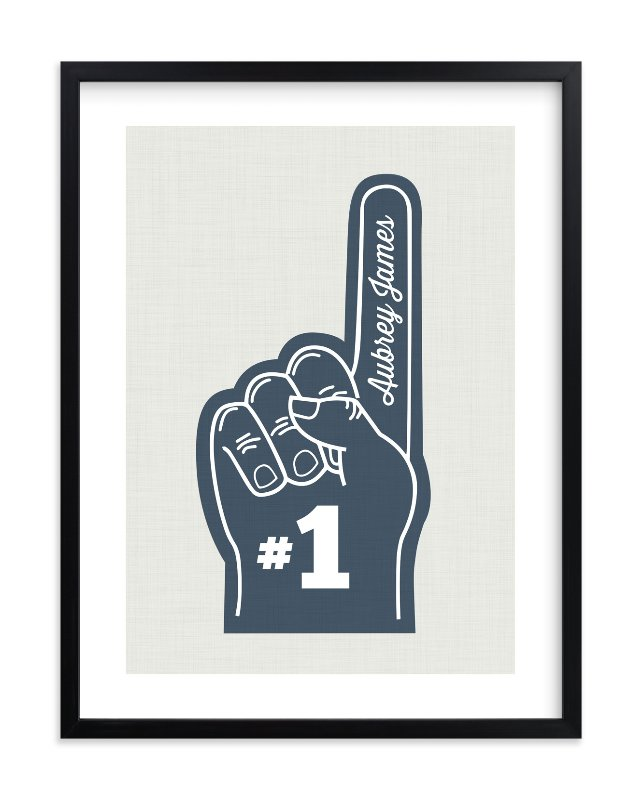 """""""Number One"""" - Children's Custom Art Print by Itsy Belle Studio in beautiful frame options and a variety of sizes."""