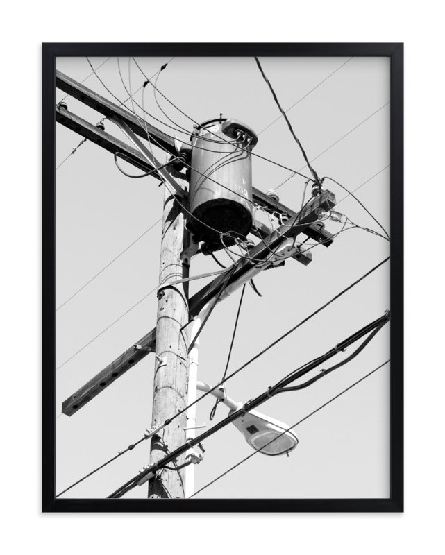 """Power Lines"" - Art Print by Becky Nimoy in beautiful frame options and a variety of sizes."