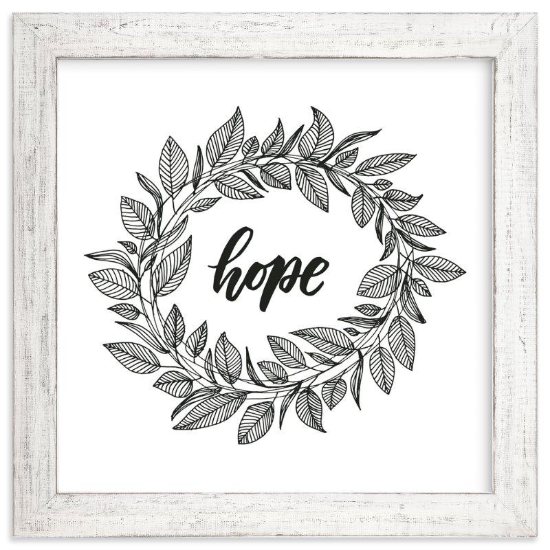 """Hope Wreath"" - Art Print by Lyna Ti in beautiful frame options and a variety of sizes."