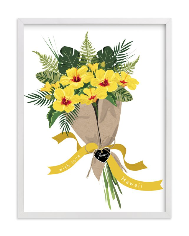"""Hawaii Hibiscus Bouquet"" - Art Print by Susan Moyal in beautiful frame options and a variety of sizes."