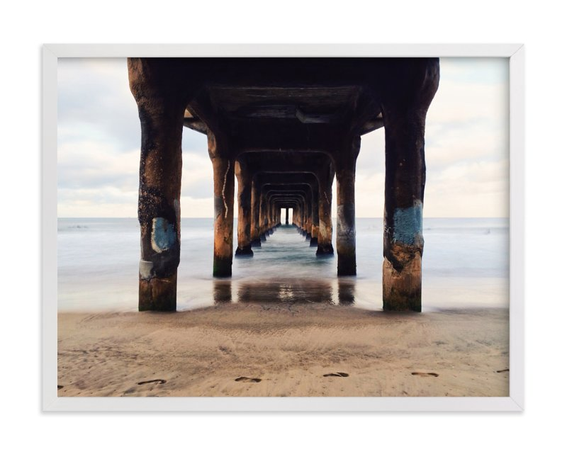 """Shoot the Pier"" - Art Print by Christian Florin in beautiful frame options and a variety of sizes."