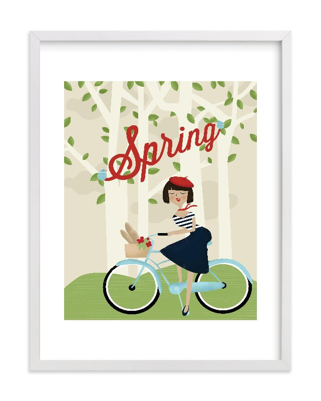 """Le Printemps"" - Limited Edition Art Print by Pistols in beautiful frame options and a variety of sizes."