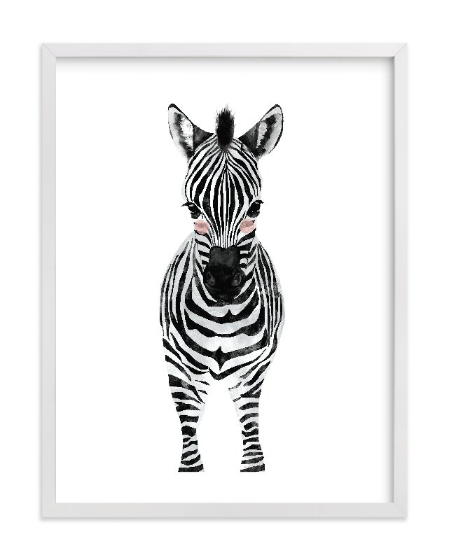Beautiful Baby Animal.zebra Wall Art Prints By Cass Loh | Minted