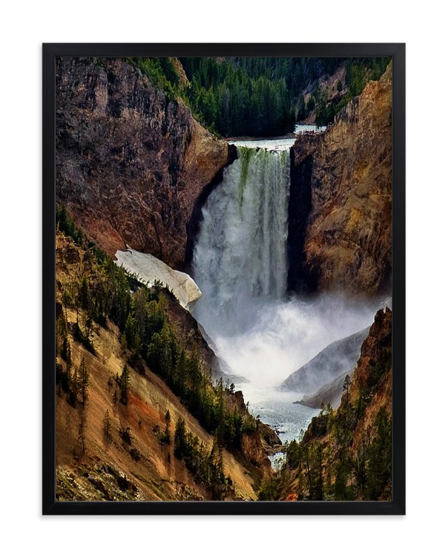"""""""Yellowstone Falls"""" - Art Print by Mazing Designs in beautiful frame options and a variety of sizes."""