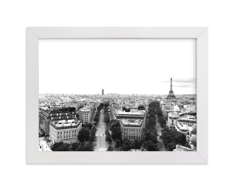 """The Streets of Paris"" - Art Print by Kelsey McNatt in beautiful frame options and a variety of sizes."