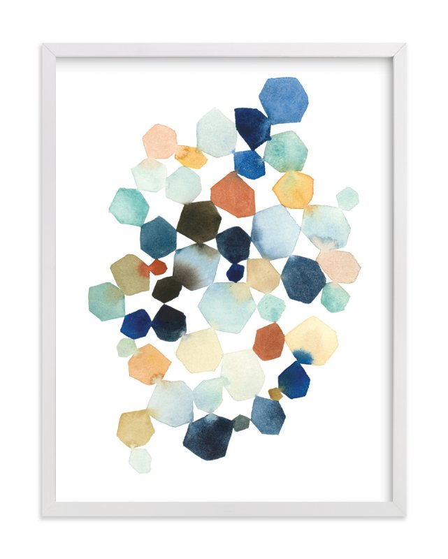 """""""Hexagon Cluster"""" - Art Print by Yao Cheng in beautiful frame options and a variety of sizes."""