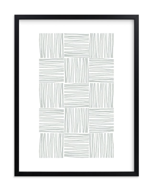 """Checkered Lines"" - Art Print by Tami Bohn in beautiful frame options and a variety of sizes."