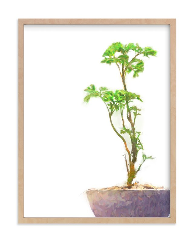 """""""A Purple Potted Plant"""" - Art Print by Brian Lee in beautiful frame options and a variety of sizes."""