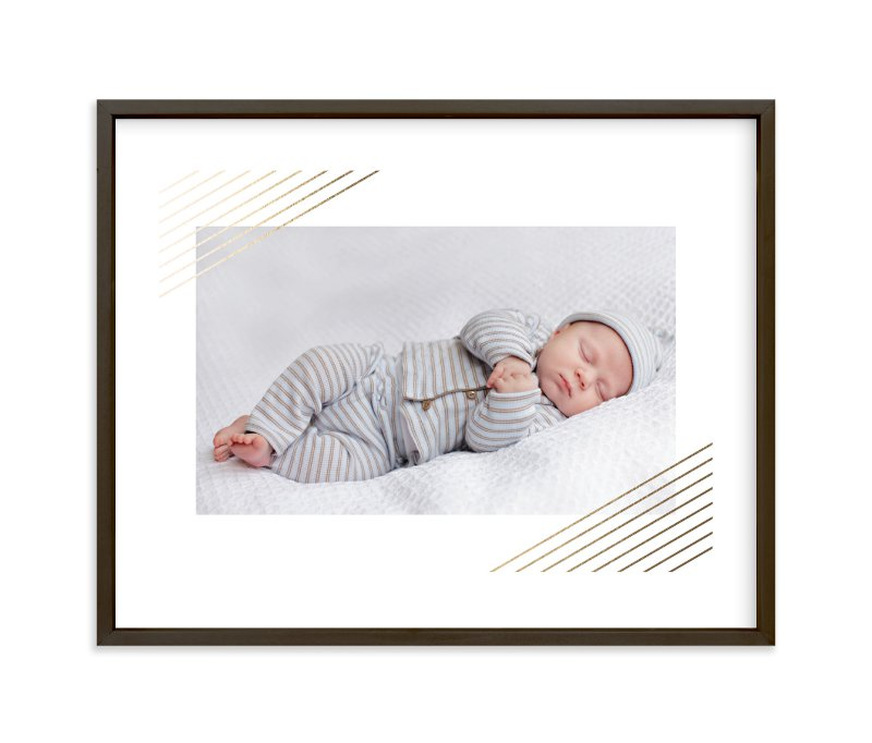 """Modern Shimmer"" - Foil-pressed Children's Custom Photo Art Print by Alston Wise in beautiful frame options and a variety of sizes."