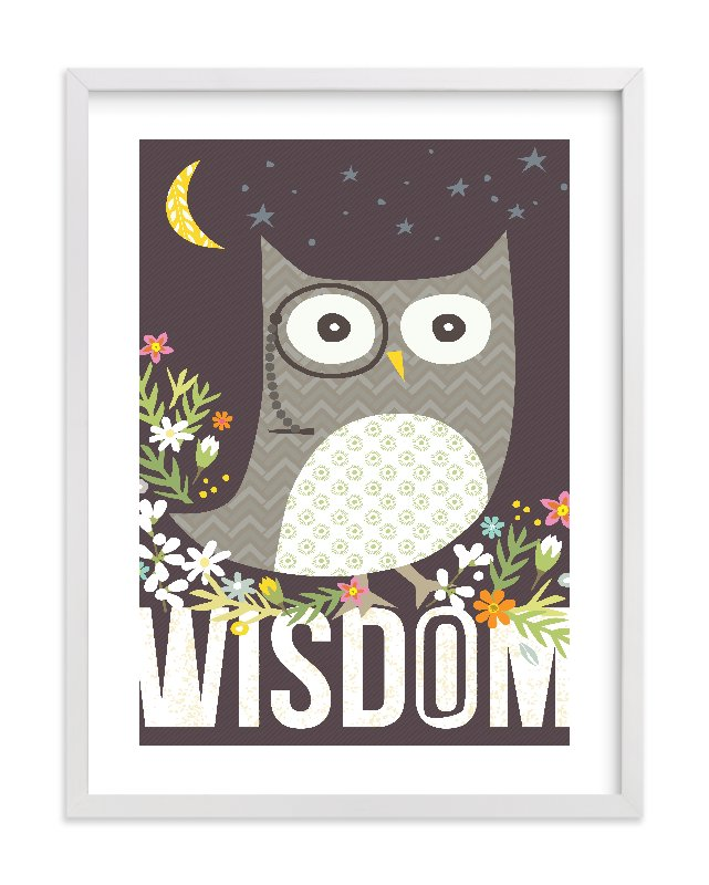 """Wisdom"" - Limited Edition Art Print by Griffinbell Paper Co. in beautiful frame options and a variety of sizes."