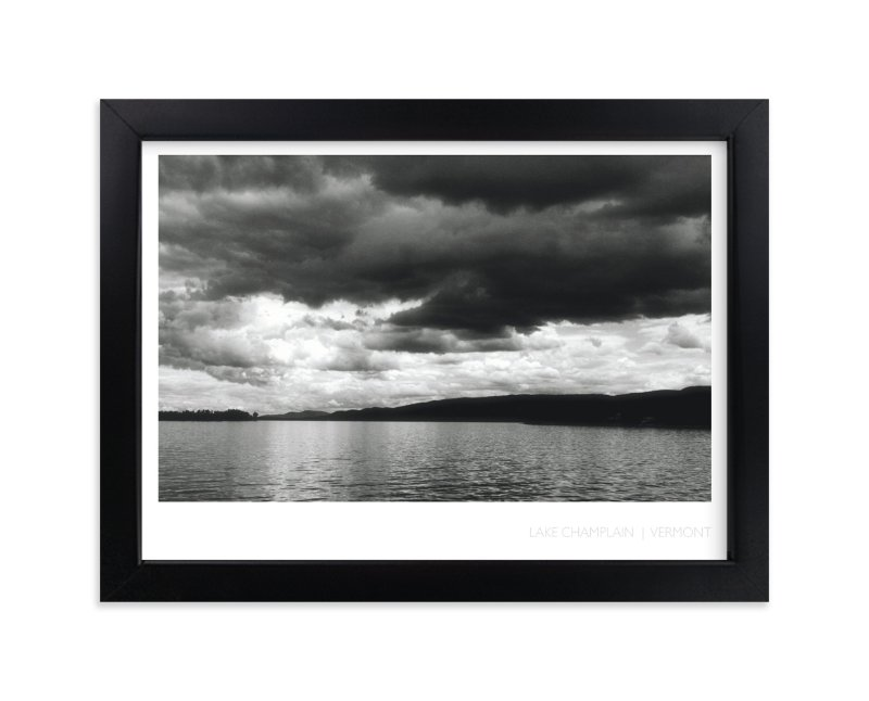 """""""Lake Champlain"""" - Art Print by Grey Circle in beautiful frame options and a variety of sizes."""
