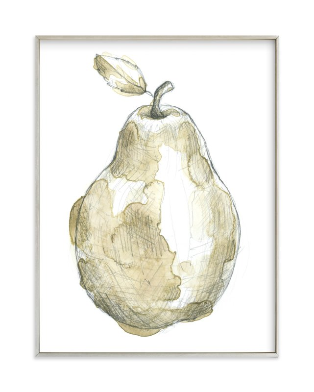 """""""Eat More Fruits - Pear"""" - Art Print by Susanne Kasielke in beautiful frame options and a variety of sizes."""