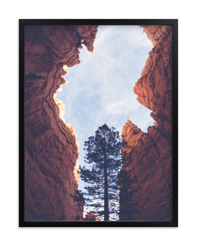 """""""Red Rock and Sky"""" - Limited Edition Art Print by Melissa Walls in beautiful frame options and a variety of sizes."""