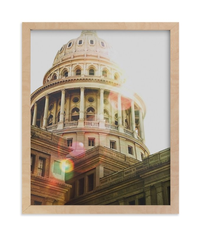 """""""Texas Capitol"""" - Art Print by Hanna Mac in beautiful frame options and a variety of sizes."""
