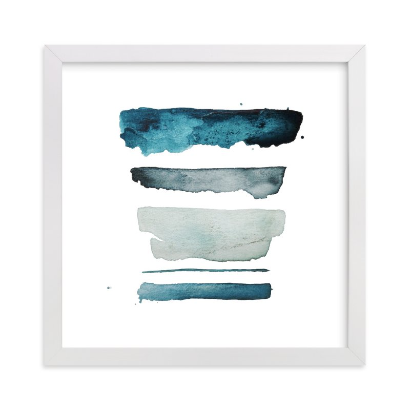 """""""of land and sea - deep"""" - Art Print by Kiana Mosley in beautiful frame options and a variety of sizes."""