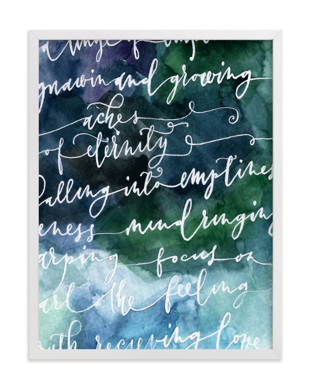 """""""Streams of Consciousness"""" - Art Print by Artsy Canvas Girl Designs in beautiful frame options and a variety of sizes."""