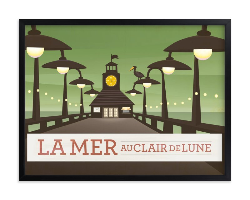 """La Mer"" - Art Print by Griffinbell Paper Co. in beautiful frame options and a variety of sizes."