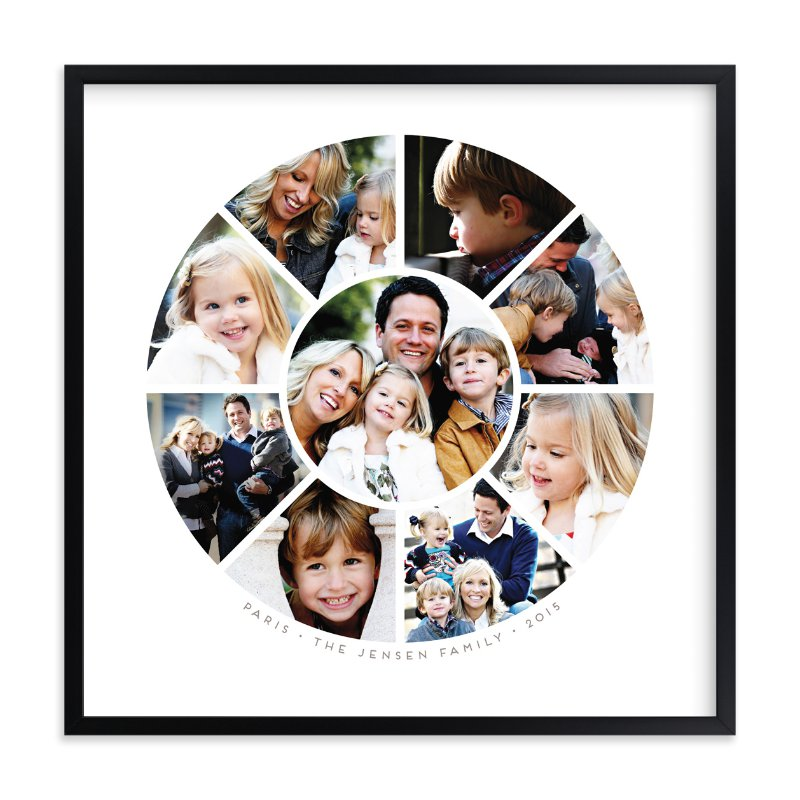 """""""Family Circle"""" - Custom Photo Art Print by Guess What Design Studio in beautiful frame options and a variety of sizes."""