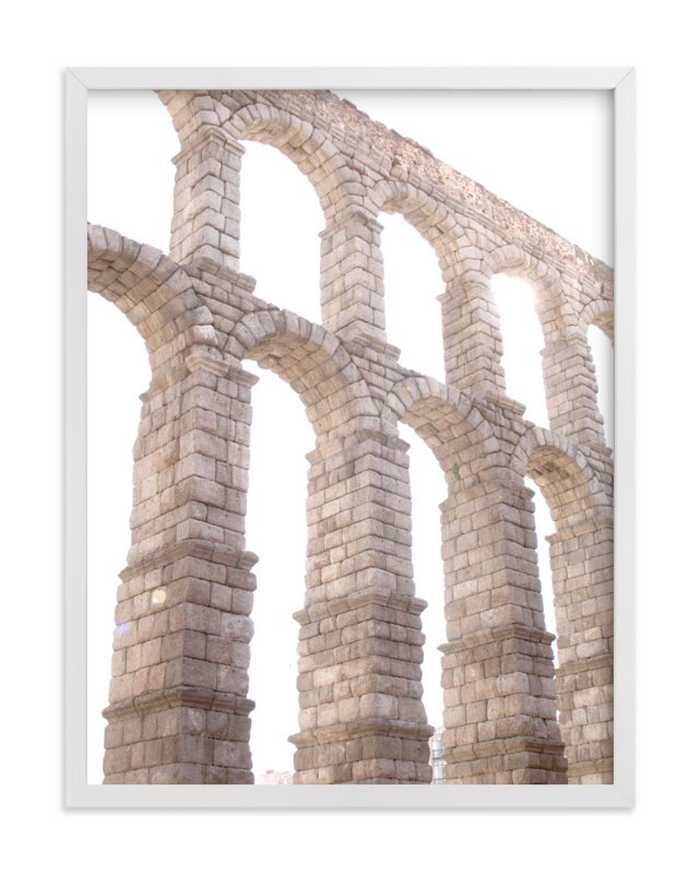 """""""Aqueduct in the late morning"""" - Art Print by Sharon Rowan in beautiful frame options and a variety of sizes."""