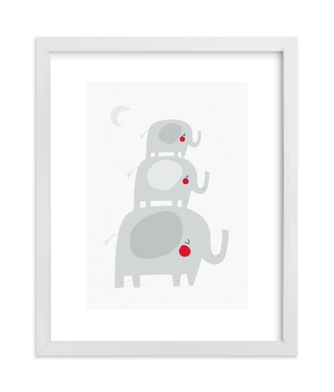 """""""Elephant Stack"""" - Art Print by Angela Thompson in beautiful frame options and a variety of sizes."""