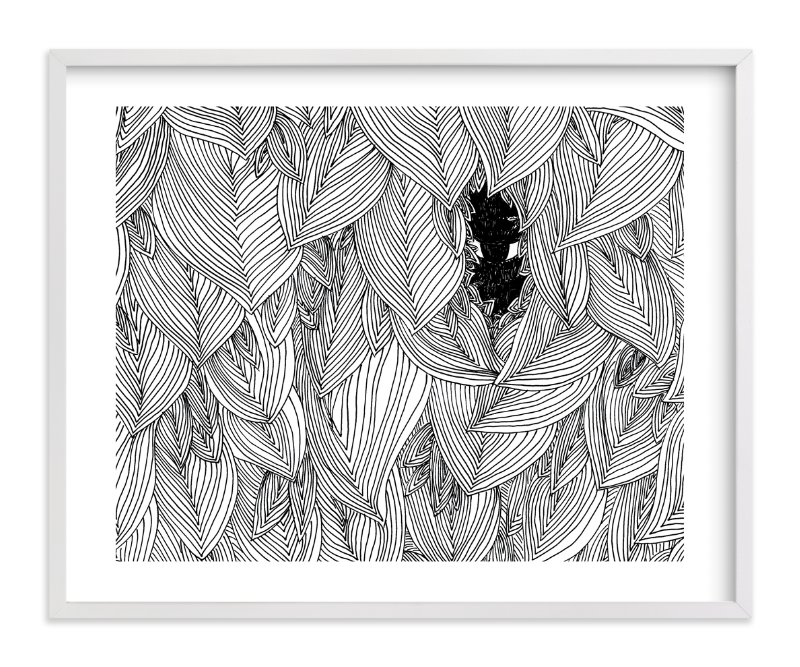 """behind the foliage"" - Limited Edition Art Print by Helen H Wu in beautiful frame options and a variety of sizes."