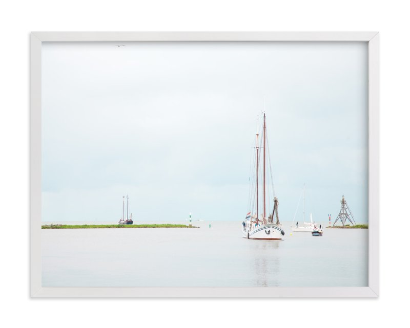 """""""The Arrival"""" - Art Print by Alexandra Feo in beautiful frame options and a variety of sizes."""